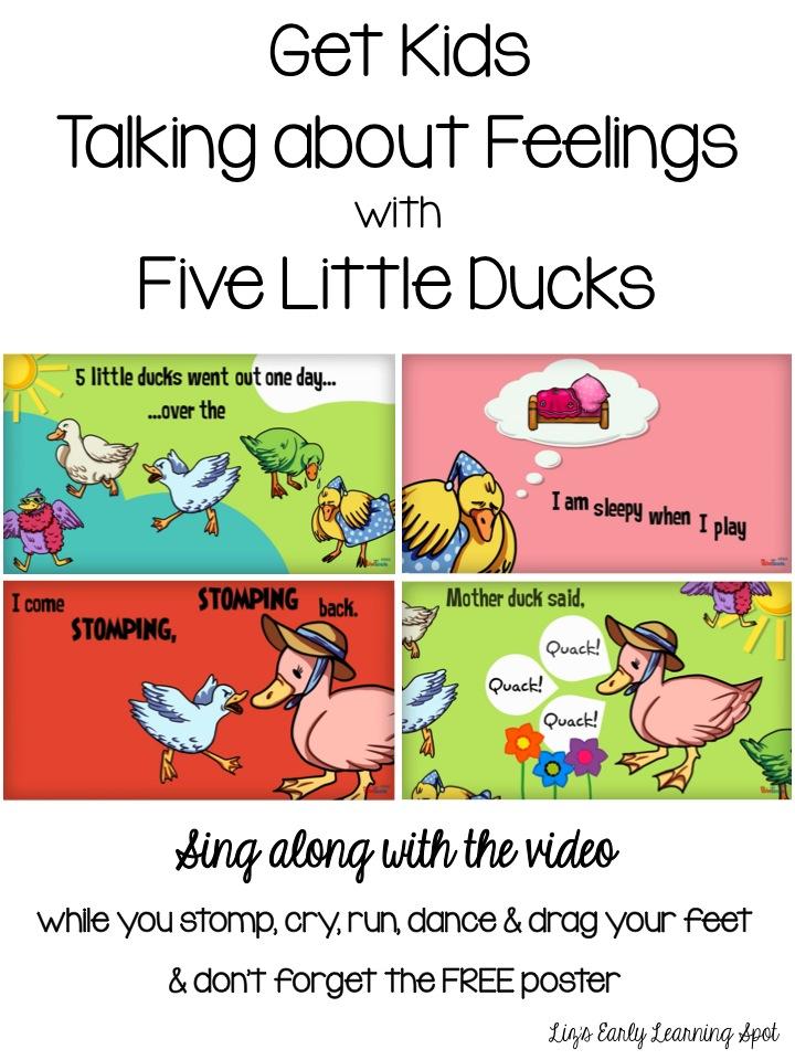 Talking about feelings with Five Little Ducks (Liz's Early Learning Spot)
