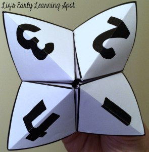 Learning numbers when you only have a minute. Free Cootie Catchers from Liz's Early Learning Spot