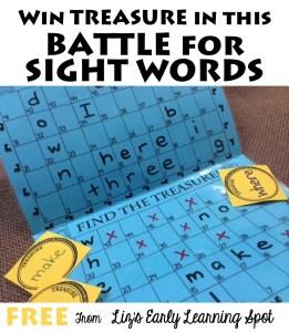 Battling for Sight Word Treasures