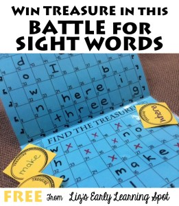 Battling for Sight Word Treasures