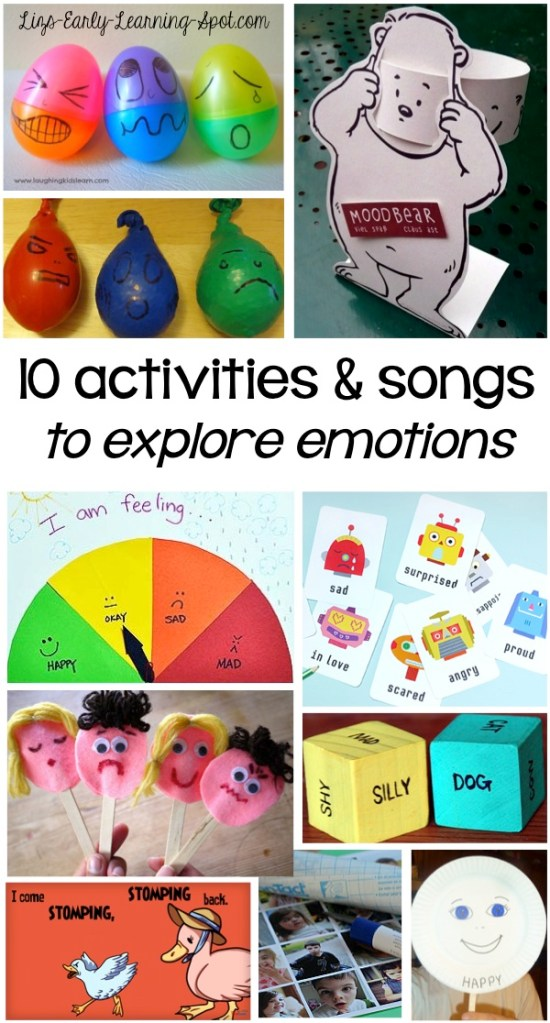 10 Activities and You Tube Songs to Explore Emotions