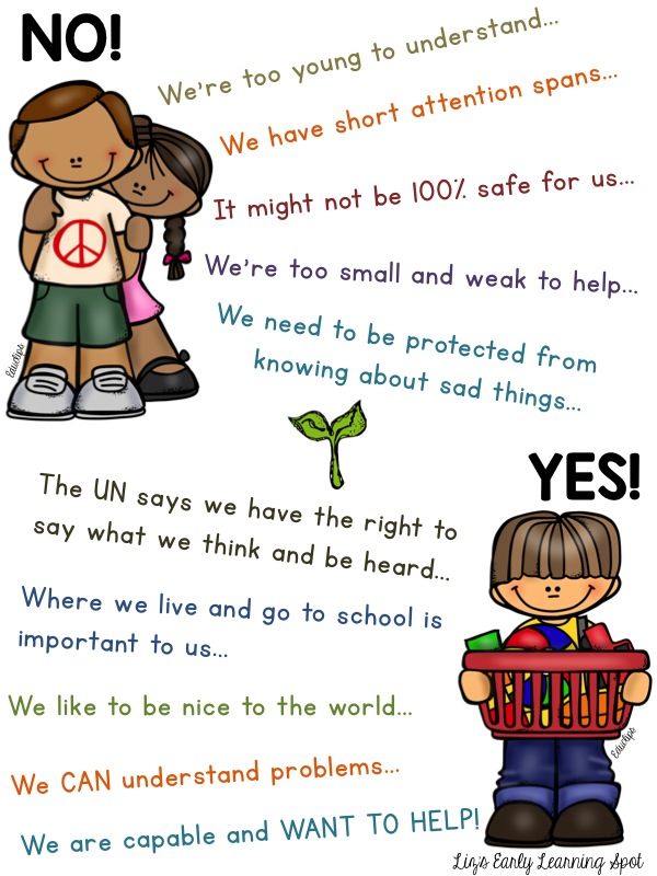 Yes, young children CAN help save the world!