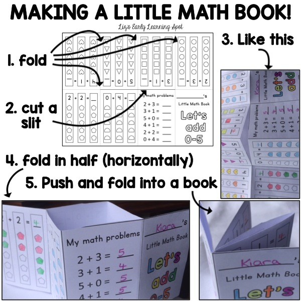 Have fun making these tiny math books. They're free!