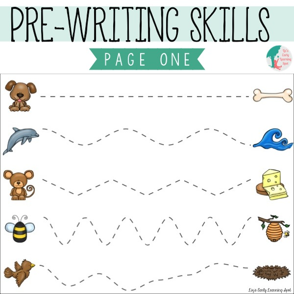 Prewriting Practice Solid & Dashed Printables