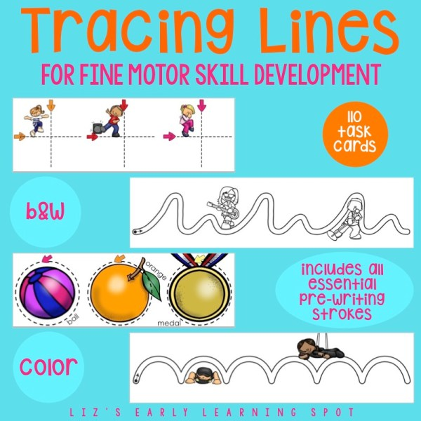 These line tracing activities are fantastic for fine motor skills and pre-writing development!