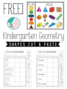 Kindergarten Geometry: 2D and 3D Shapes