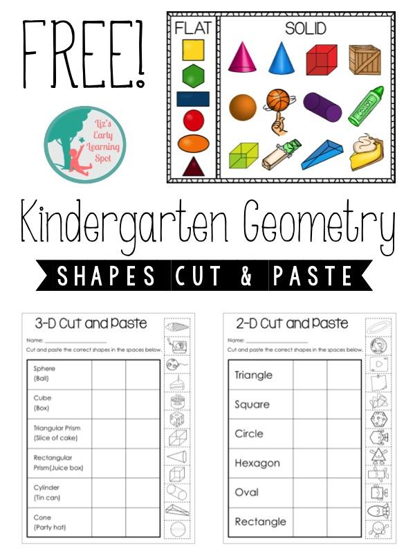 Kindergarten Geometry: 2D and 3D Shapes