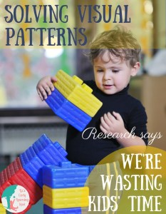 Solving Visual Patterns in Preschool: Research Says We're Wasting Time