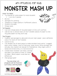 Make this super fun monster art project for kids!