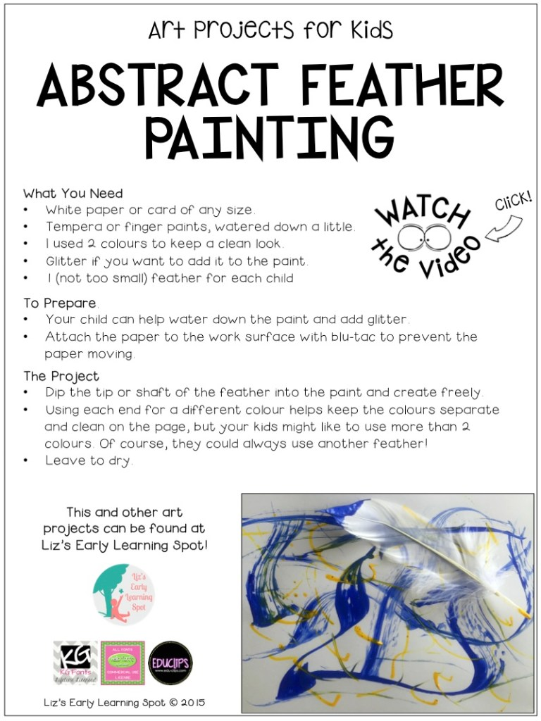Let your kids loose with this abstract art activity for kids.
