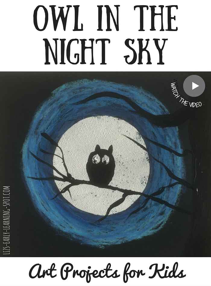 Beautiful Halloween artwork for young children! Free 'how to' sheet.