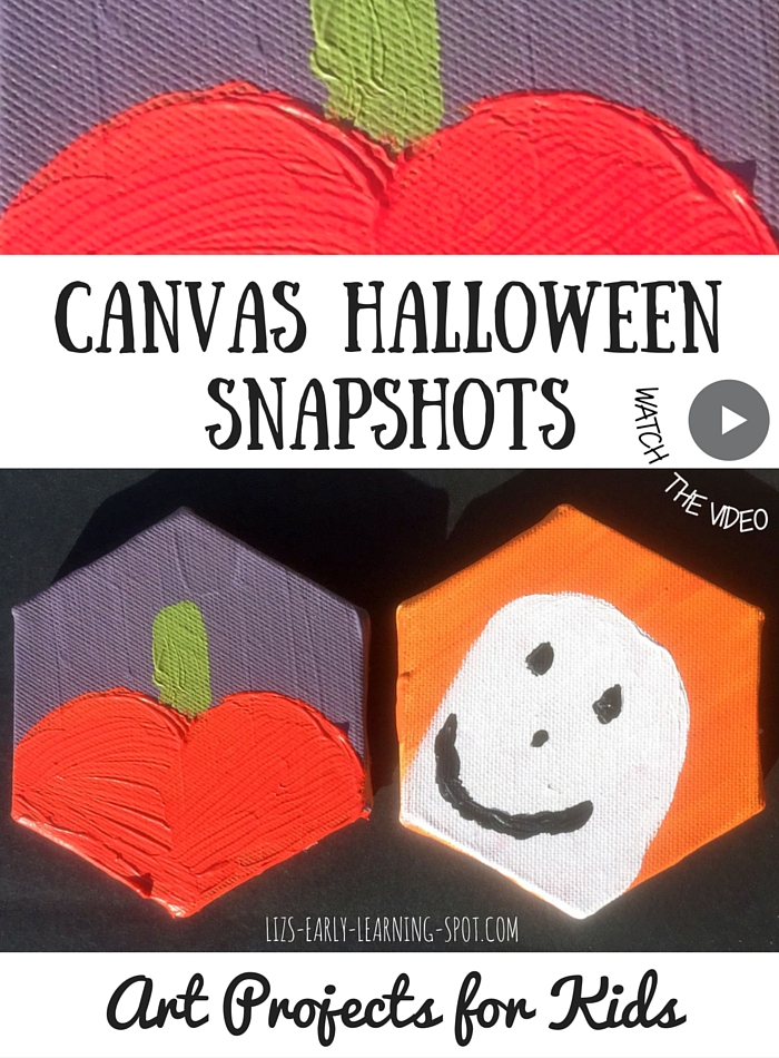 Art Projects for Kids: Canvas Halloween Snapshots