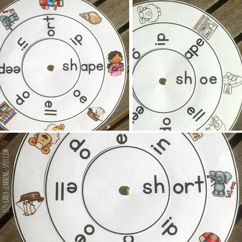 Download this free sh- digraph word wheel and get practicing those sh- words!