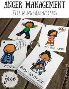 Anger Management: 23 Calming Strategy Cards