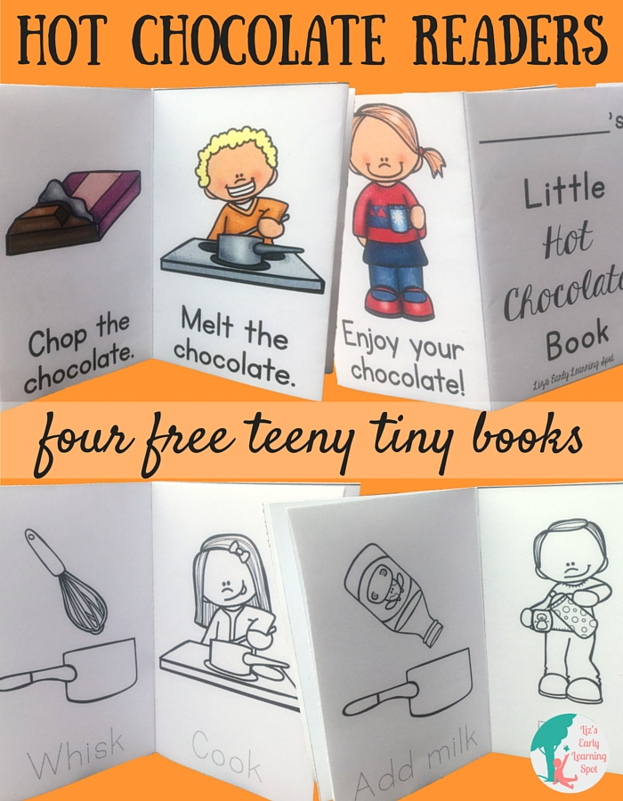 Your kids will love these teeny tiny hot chocolate readers!