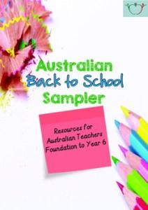 Free Australian Back to School Sampler