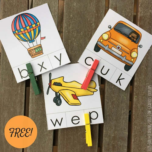 A transportation theme makes practicing beginning sounds fun with these free cards!