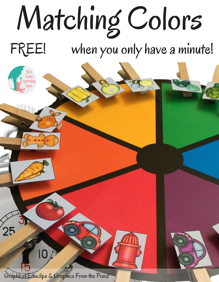 Matching Colors When You Only Have A Minute - Liz\'s Early Learning Spot