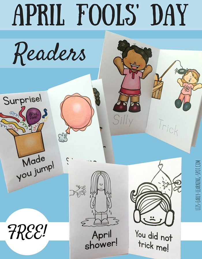 Enjoy these free April Fools' Day readers with your child!