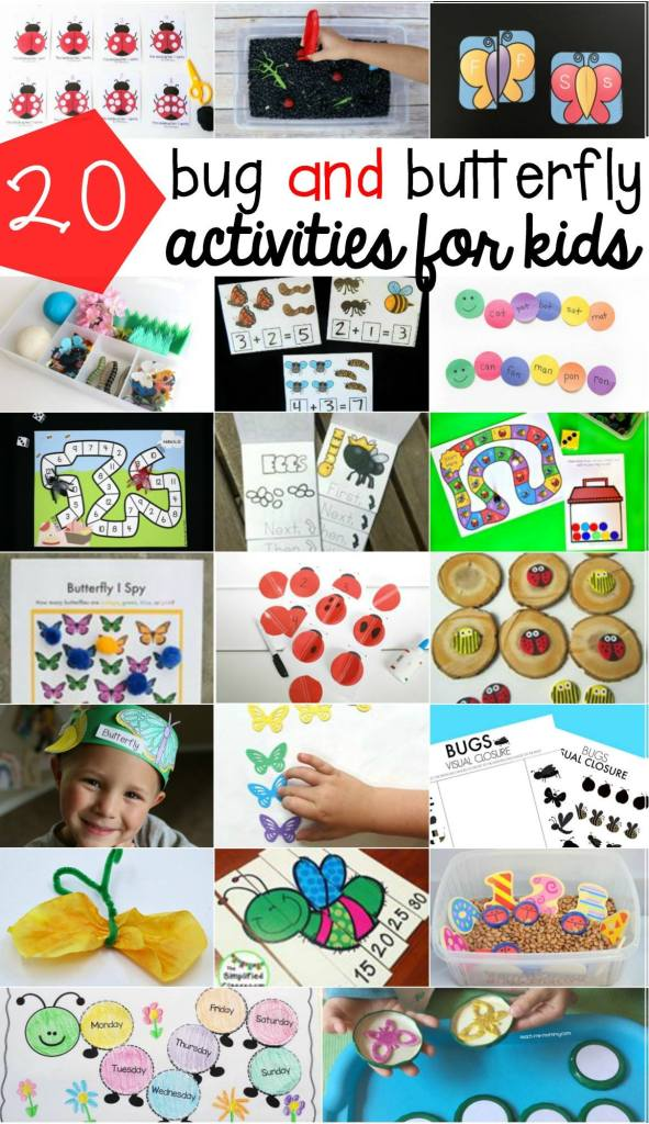 Find links to 20 fun and educational bugs and butterflies activities!
