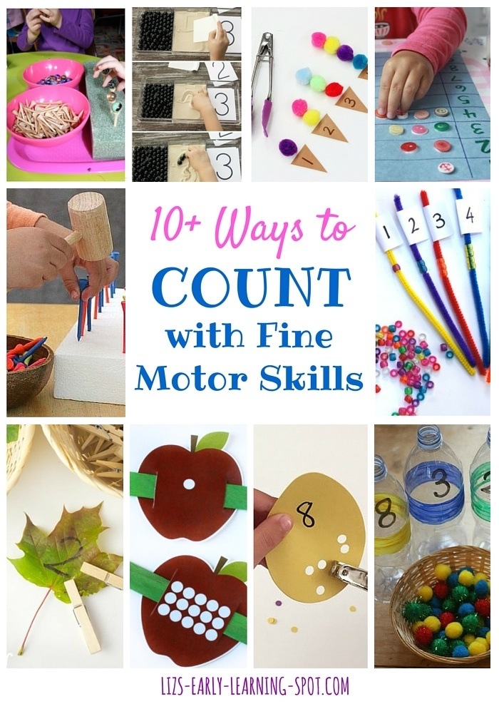 10 ways to count with fine motor skills liz 39 s early learning spot. Black Bedroom Furniture Sets. Home Design Ideas