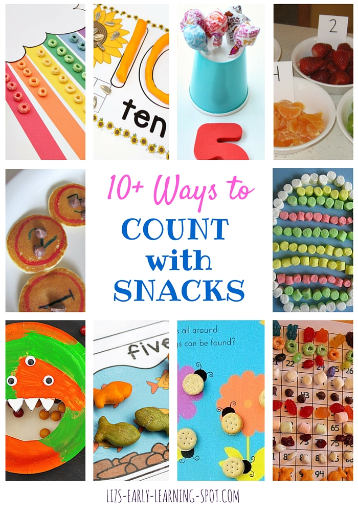 Counting with snack foods has to be fun! You'll find plenty of links to great ideas on this post!