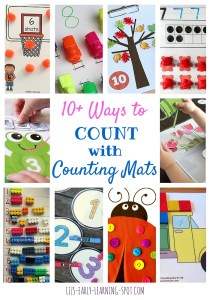 10 Ways to Count with Counting Mats: Free and DIY