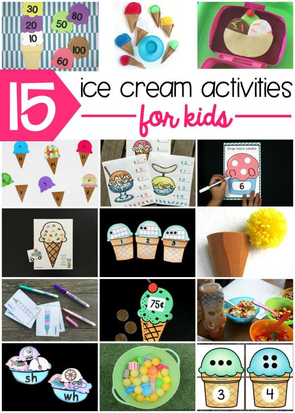 There are lots of great ideas and free learning printables for ice cream-themed activities here!