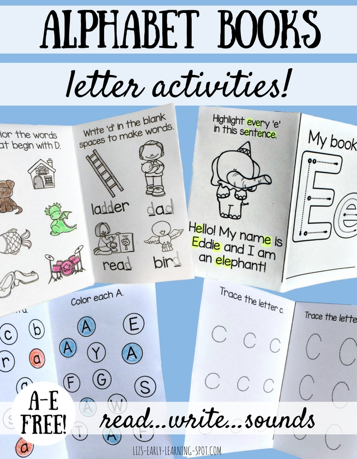 These alphabet activity books are a great way to consolidate letter knowledge. A-E are free!