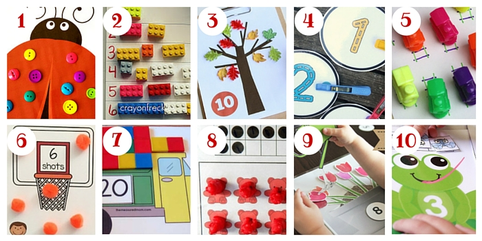 You'll find over 100 ways to count at this post, including all these amazing free & DIY counting mats!