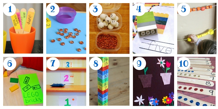 Check out all these great ways to count at home, and then there's another 90 ways to count!