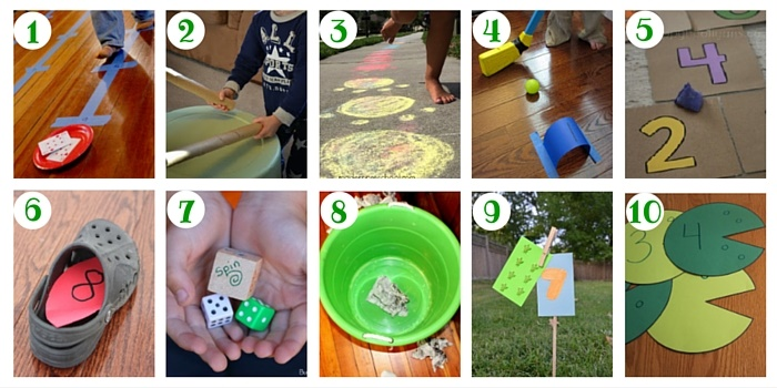 This post has over 100 ways to count including these great ideas to count and move!