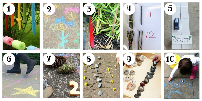 There are over 100 ways to count on this post, including creative ways to count outside!