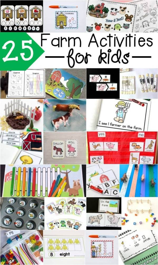 Great farm-themed ideas and free printables for your kids!