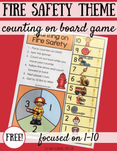 Fire Safety Counting On 1-10
