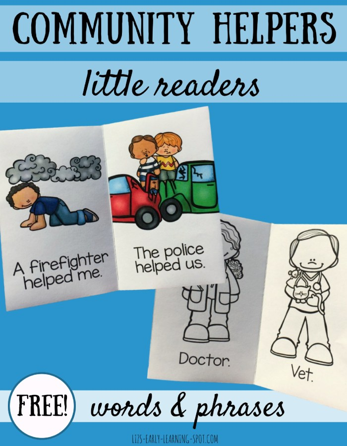 These free little community helpers readers are a great starting point for raising discussions about how we can all work together to keep everyone safe and healthy!
