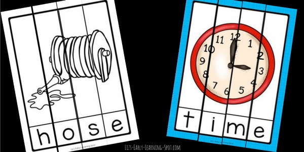 Practice Magic E long vowel words with these free puzzles!