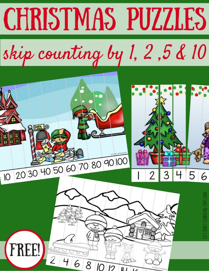 practice skip counting this season with these free christmas skip counting puzzles - Christmas Puzzles Free