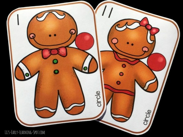 Match 2D shapes and practice counting with these sweet gingerbread people. Free!