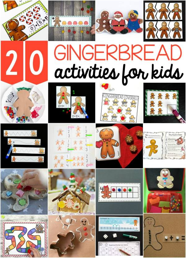 20 fun ideas for learning based on a gingerbread theme! All free!