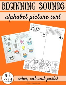 The Alphabet: Beginning Sounds Picture Sorts