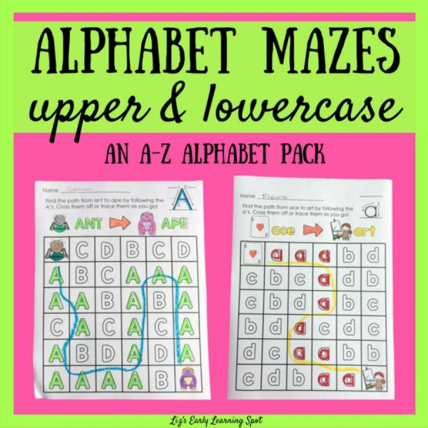 Here's a fun way to practice reading and writing the alphabet!