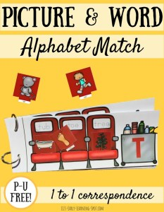 Pictures and Words Match: An Alphabet Flip Book