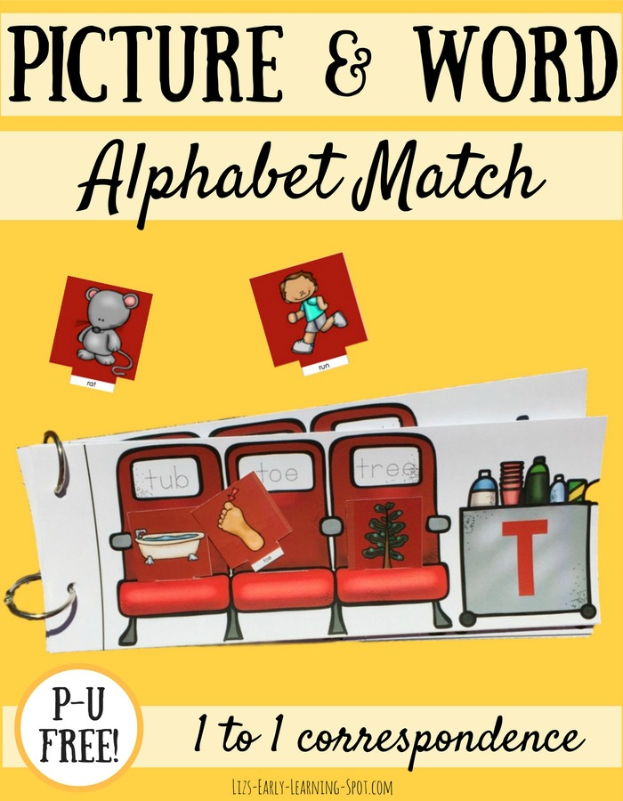 Match the pictures to the words with this free plane-themed flip book alphabet activity!