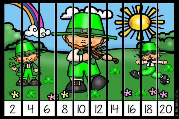 Grab these (and other) free skip counting puzzles and enjoy the St Patrick's Day atmosphere!
