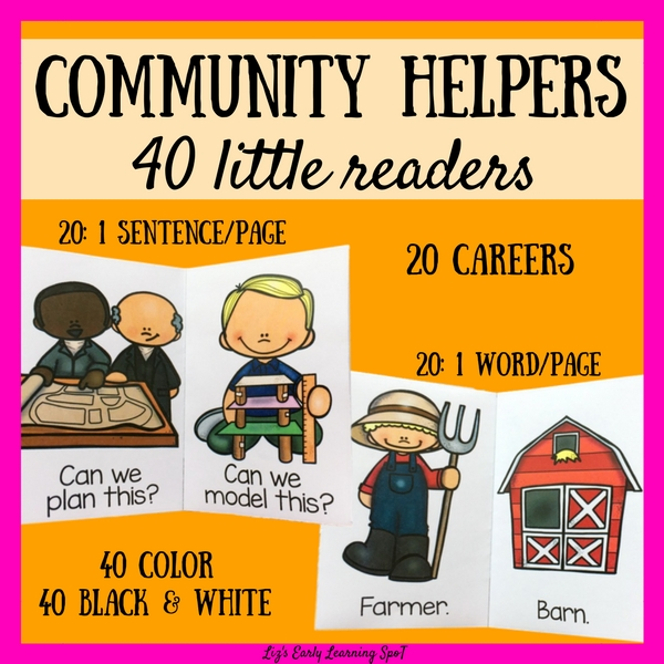 These 40 readers cover 20 different occupations and includes lots of sight words!