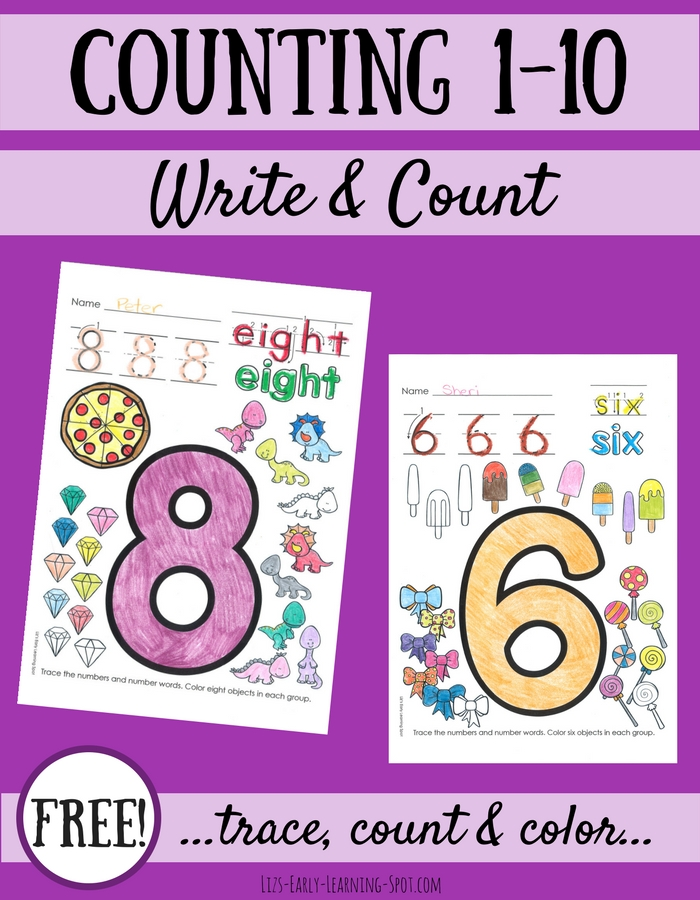 Practice counting and writing to ten with these free activity sheets!