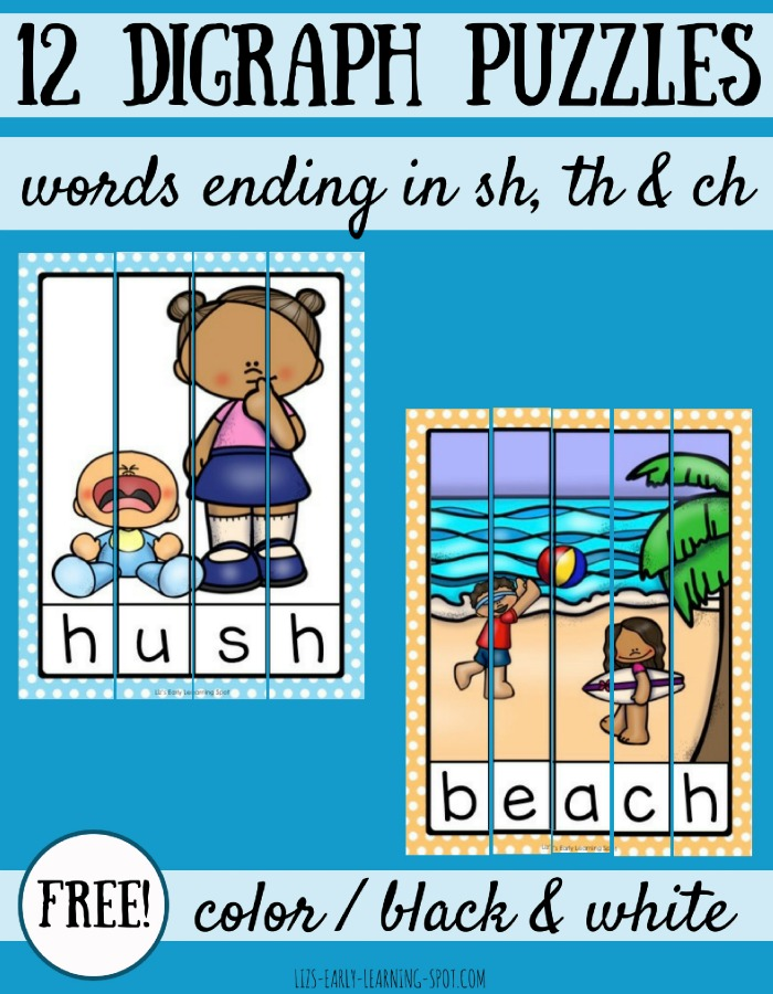 These free digraph puzzles focus on ending digraph sounds and are a fun way to consolidate learning!