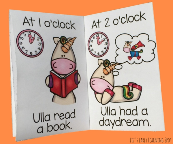 These free unicorn readers are great for practicing reading time to the hour on a wall clock!
