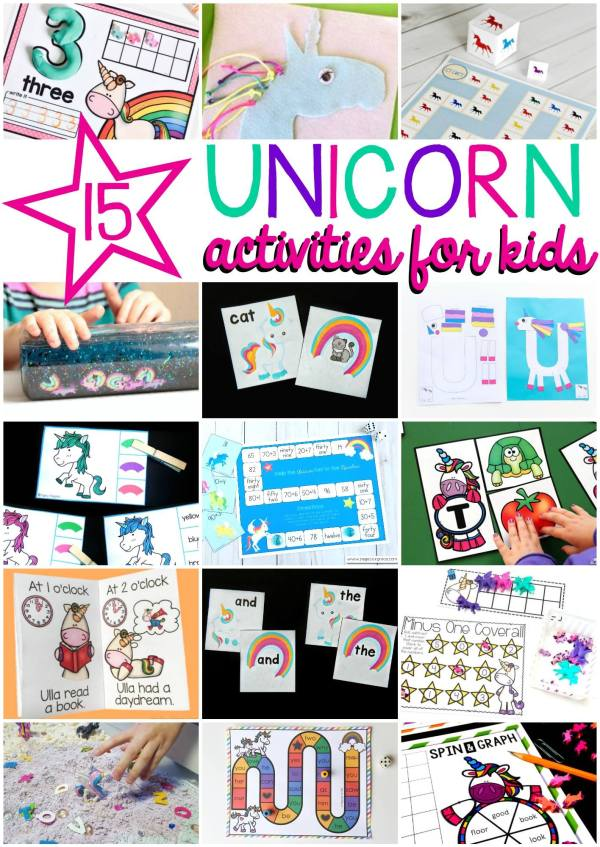 If your kids love unicorns grab some of these fantastic (and free) activities!